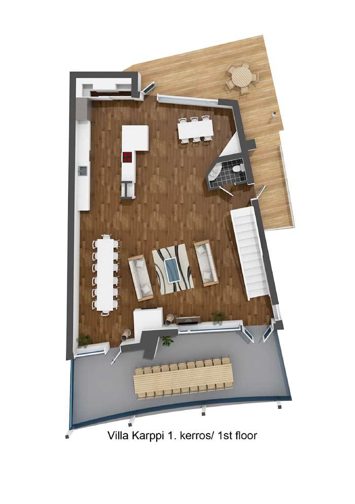 Villa Karppi 1. kerros / 1st floor
