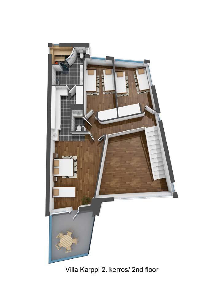 Villa Karppi 2. kerros / 2nd floor