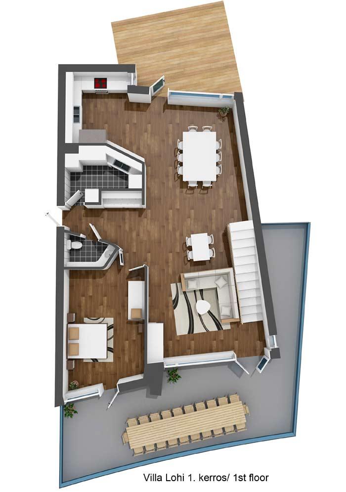 Villa Lohi 1.kerros / 1st floor